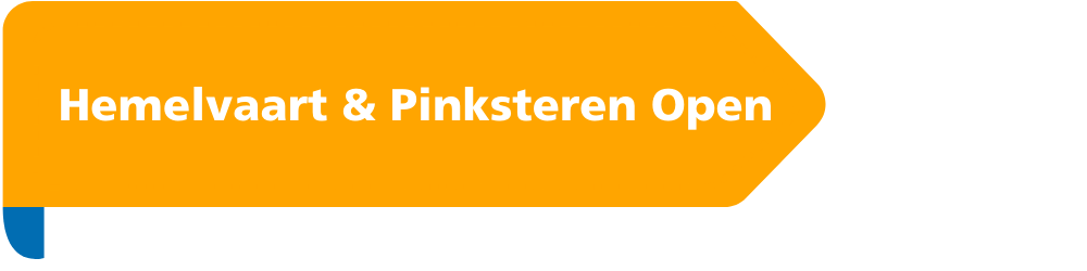Hemelvaart & Pinksteren open